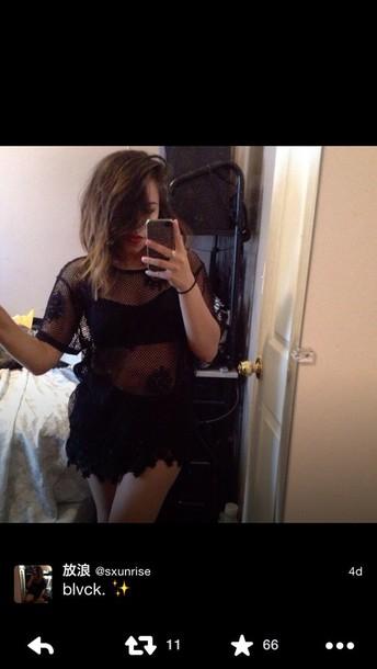 dress black mesh