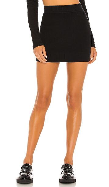 MONROW Sweater Mini Skirt in Black