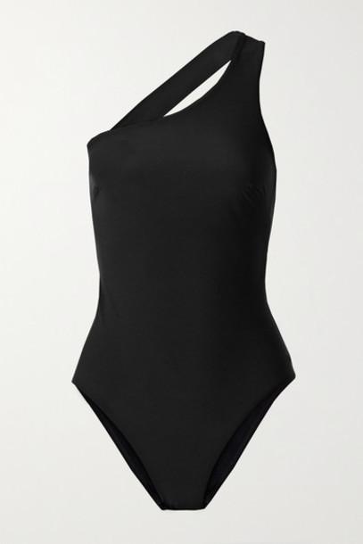 BONDI BORN - Colette One-shoulder Swimsuit - Black