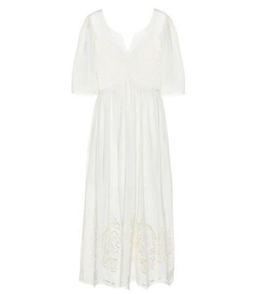 Stella McCartney Broderie anglaise silk dress in white