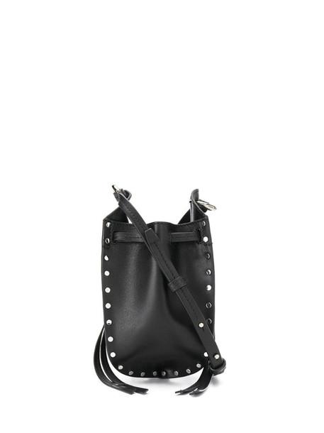 Isabel Marant Radja mini studded bucket bag in black