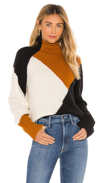 A.L.C. A.L.C. Claremont Sweater in Brown in black / white