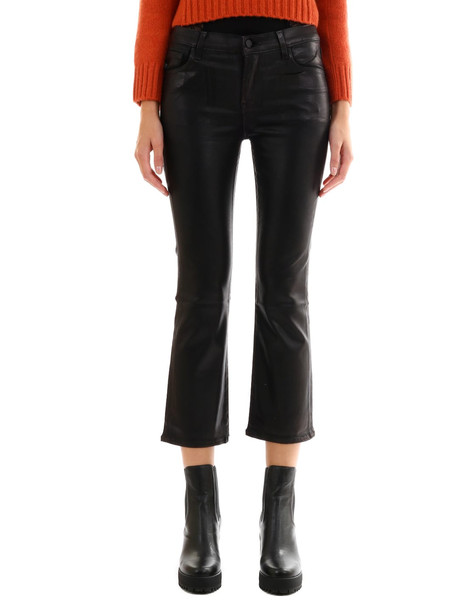 J Brand Selena Jeans Leather Effect in black