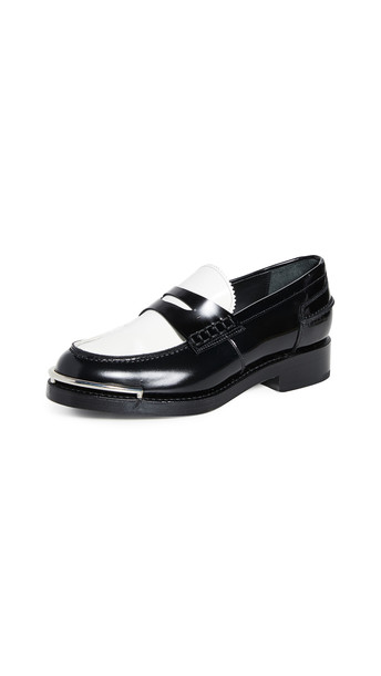 Alexander Wang Carter Loafers in black / white