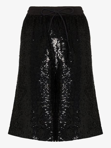 Ashish sequin bermuda shorts in black