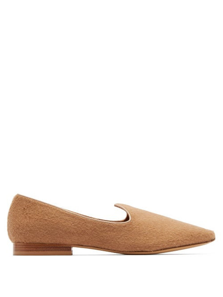 Giuliva Heritage Collection - X Le Monde Beryl Camel Hair Slipper Shoes - Womens - Camel