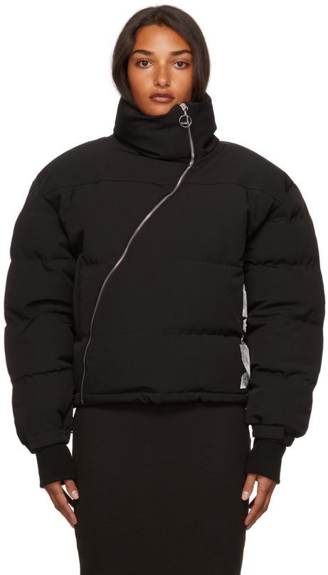 Lourdes 4x4 Bubble Coat in black