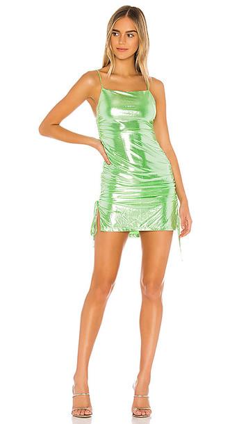 superdown Adrianne Drawstring Dress in Green