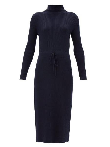 A.P.C. A.P.C. - Alma Roll-neck Merino-wool Knitted Dress - Womens - Navy