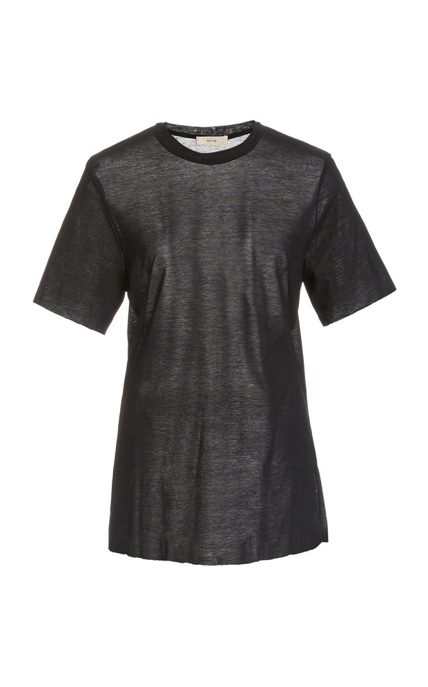 Matin Fine Cotton T-Shirt in black