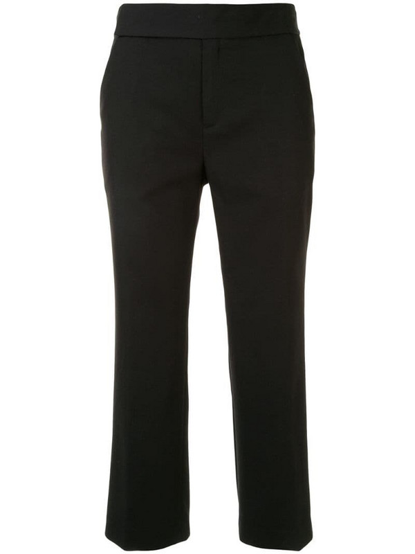 PortsPURE cropped straight-leg trousers in black