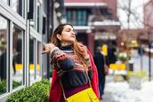 tanvii,blogger,sweater,jacket,skirt,hat,bag,shoes