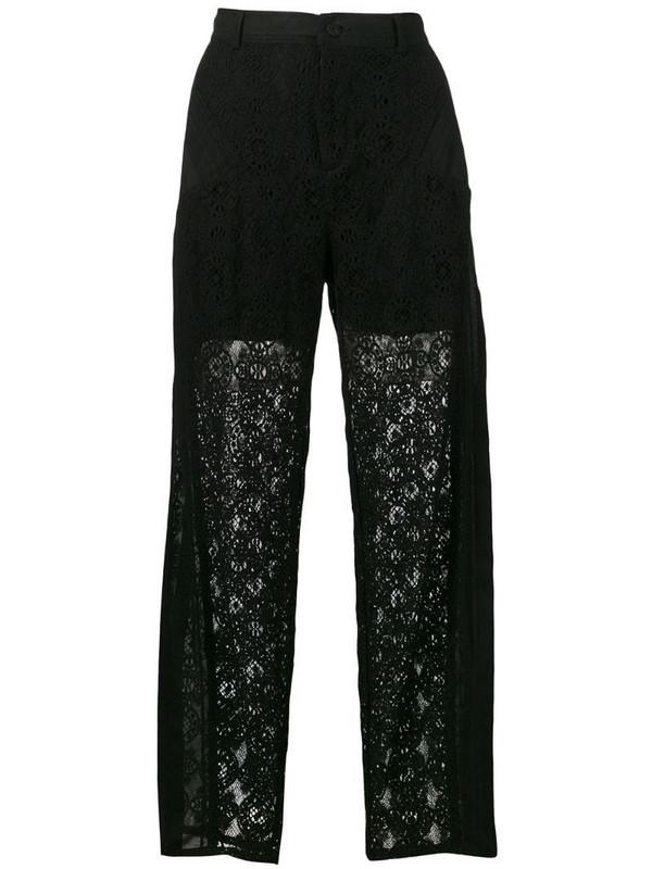 Philosophy Di Lorenzo Serafini lace panelled trousers in black