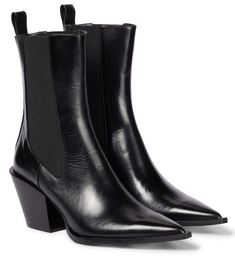Dorothee Schumacher Walk The Lines leather Chelsea boots in black