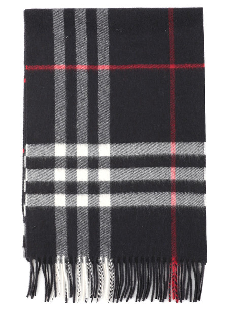 Burberry Giant Check Scarf in navy