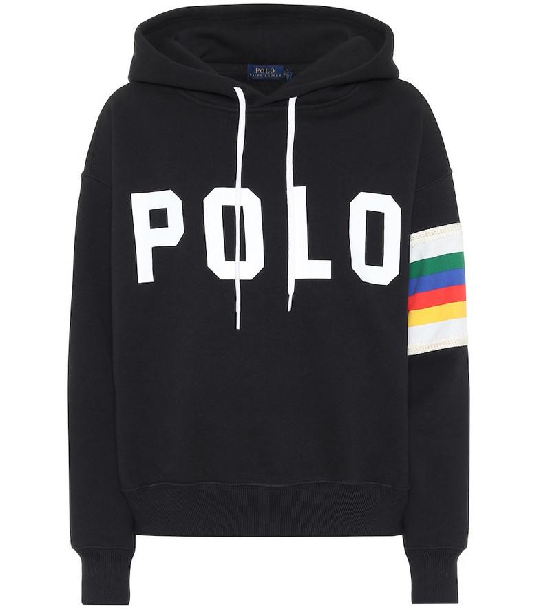 Polo Ralph Lauren Logo cotton-blend hoodie in black