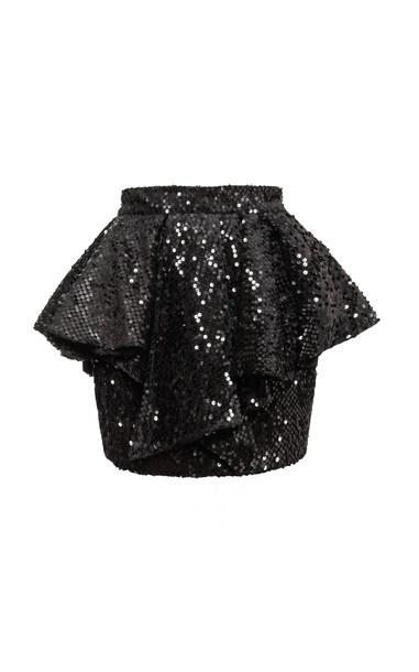 Alexandre Vauthier Sequin-Embellished Ruffled Mini Skirt Size: 34