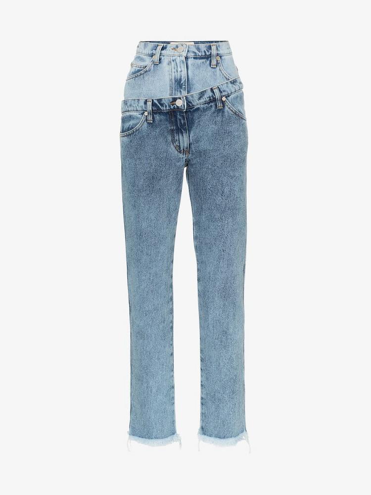 Natasha Zinko double waisted straight jeans in blue