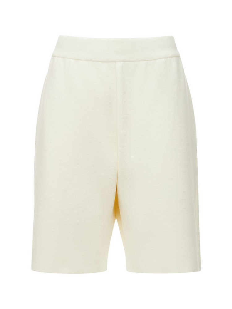 VAARA Knitted Shorts in white