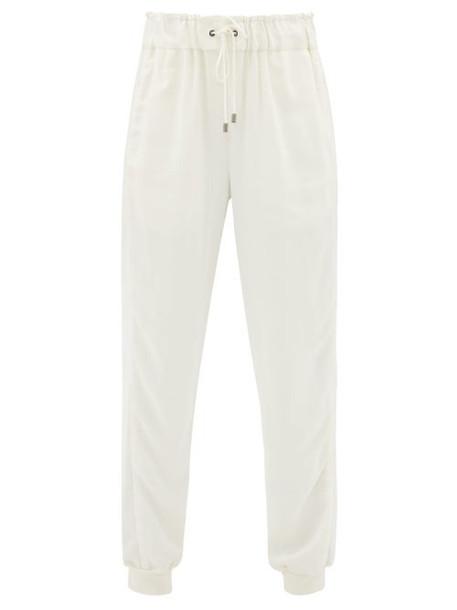 Vaara - Clemmie Crepe Track Pants - Womens - Cream