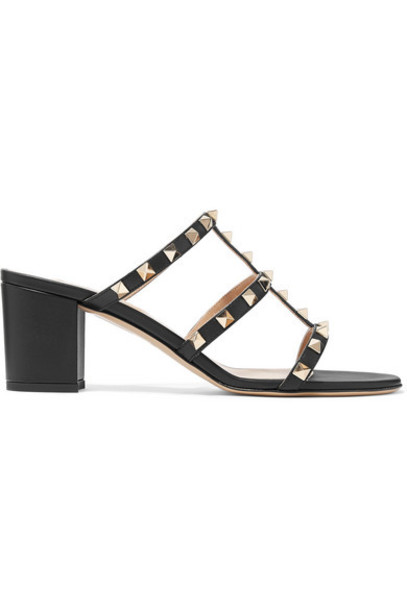 Valentino - Valentino Garavani The Rockstud 60 Leather Mules - Black