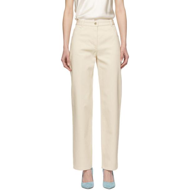 Nina Ricci Off-White Straight Jeans