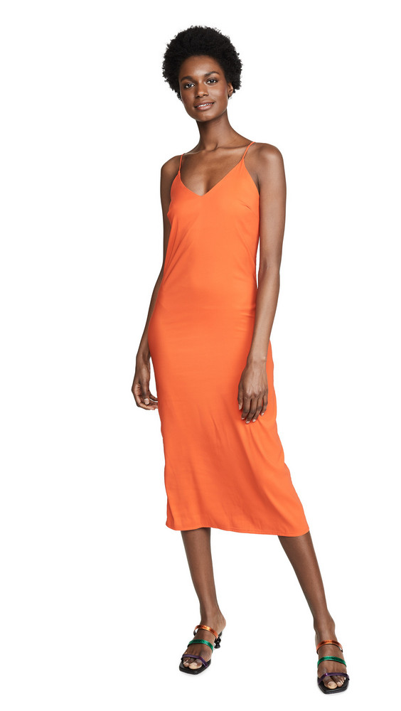 Loyd/Ford Satin Slip Dress in orange