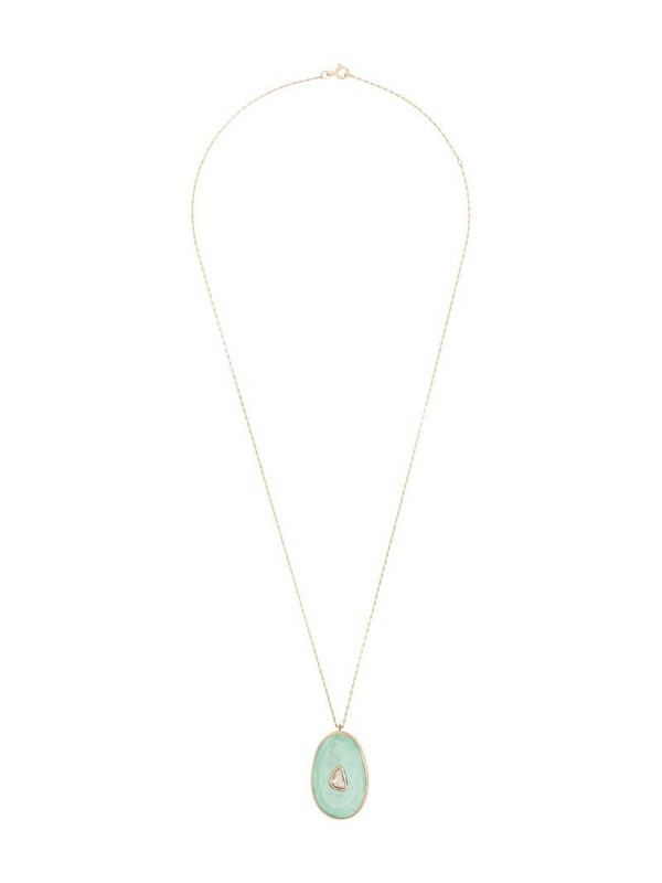 Pascale Monvoisin 9kt rose gold Simone turquoise diamond necklace