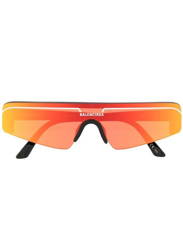 Balenciaga Eyewear mirrored shield sunglasses in orange