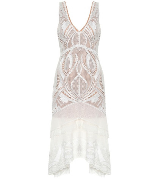 Jonathan Simkhai Guipure lace dress in white