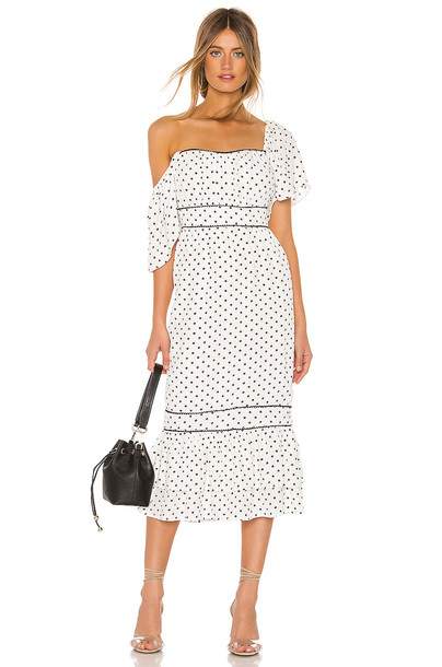 Lovers + Friends Alba Midi Dress in white