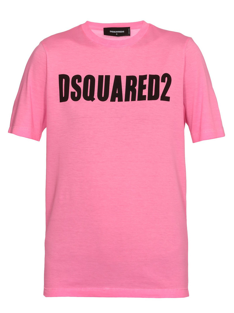 Dsquared2 Cotton Fluo T Shirt in pink