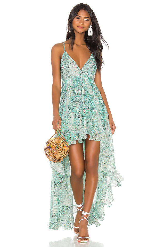 ROCOCO SAND Lexi Maxi Dress in green