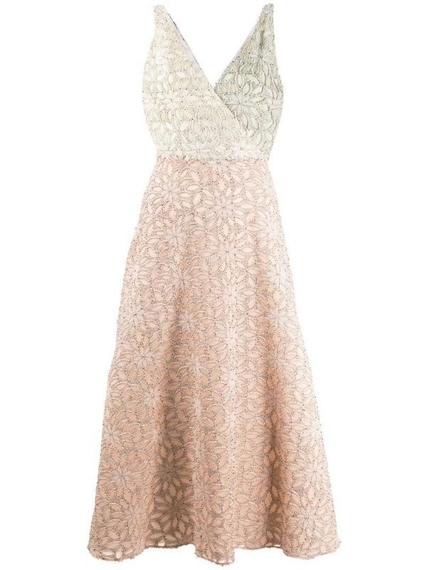 Harris Wharf London floral fil coupé dress in pink