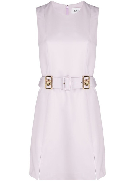LANVIN belted shift dress in pink
