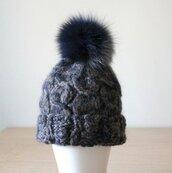 hat,alpaca hat,cable knit,real fur pom pom beanie,chunky knit