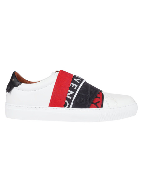 Givenchy Webbing Low Sneakers in black / red / white