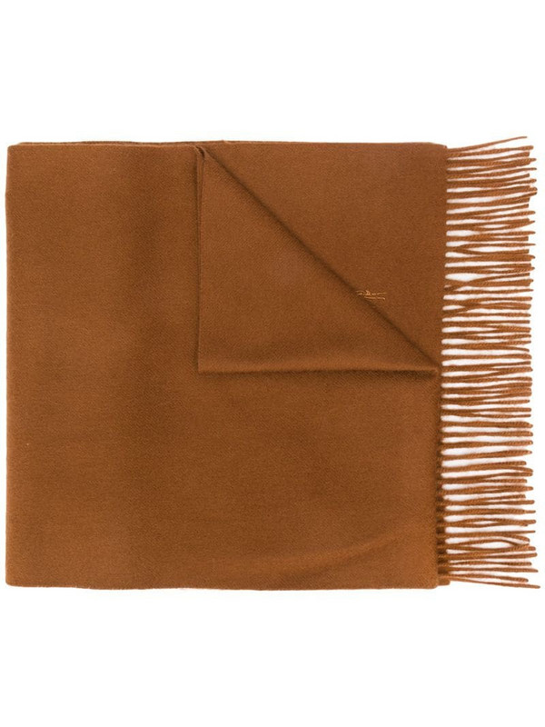 Mackintosh Bronze Cashmere Embroidered Scarf - ACC-013/E in brown