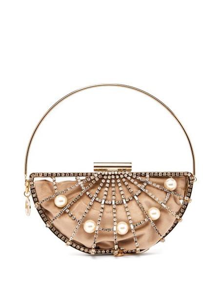 Rosantica By Michela Panero - Jodi Crystal Cage Bag - Womens - Gold Multi