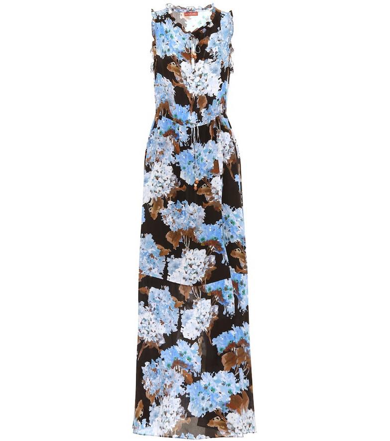 Altuzarra Exclusive to Mytheresa – Otis floral silk gown in blue