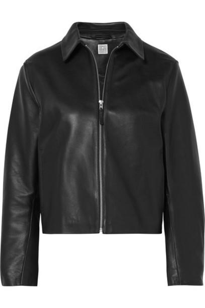 Totême - Lucca Leather Jacket - Black