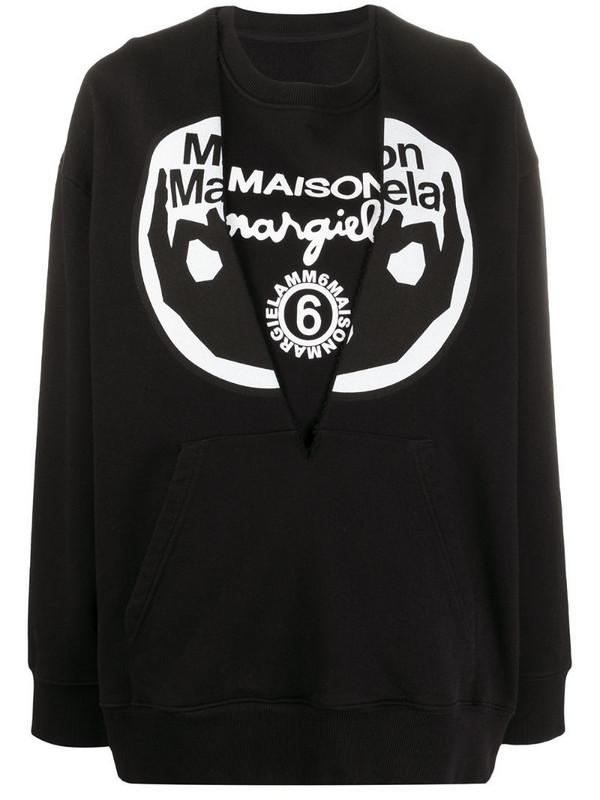 MM6 Maison Margiela logo print sweatshirt in black