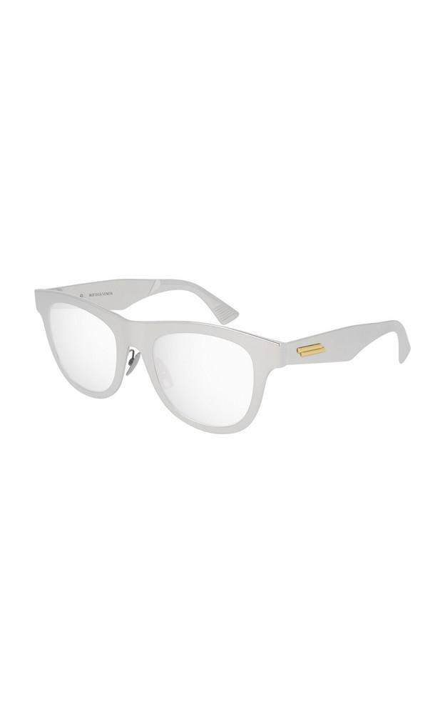 Bottega Veneta Runway Round-Frame Aluminum Sunglasses in silver