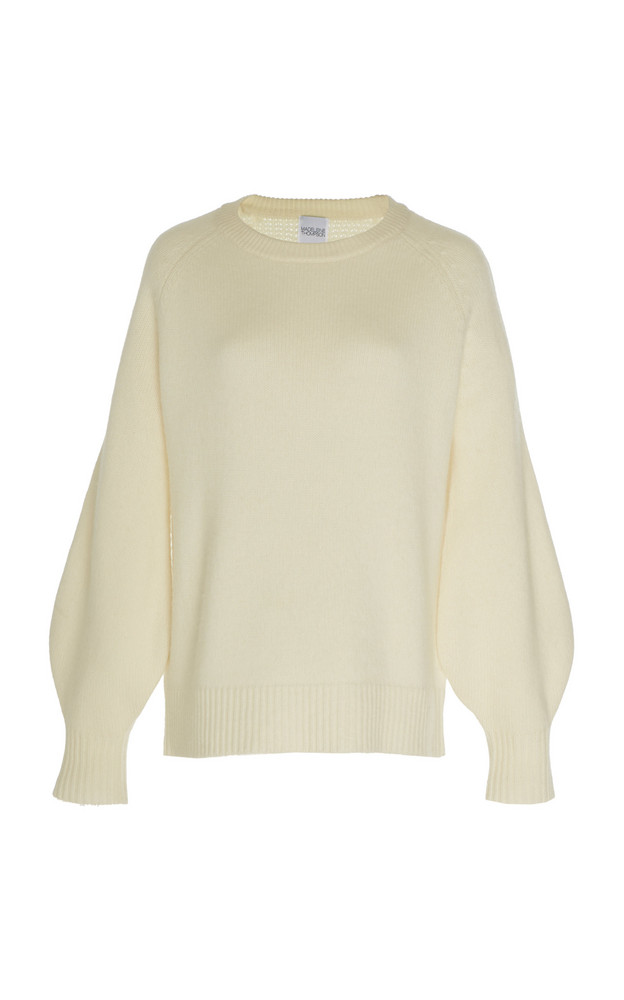 Madeleine Thompson Dinalas Cashmere And Wool-Blend Sweater in neutral