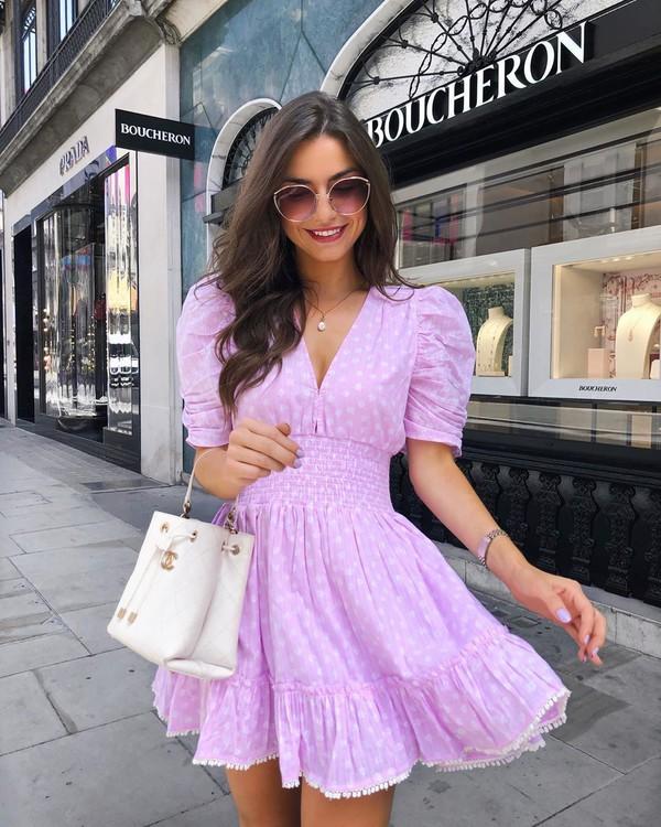 dress mini dress short sleeve dress white bag chanel bag