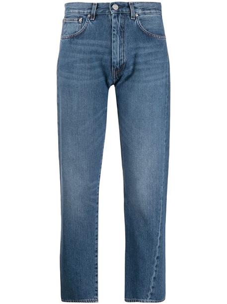 Totême cropped jeans in blue