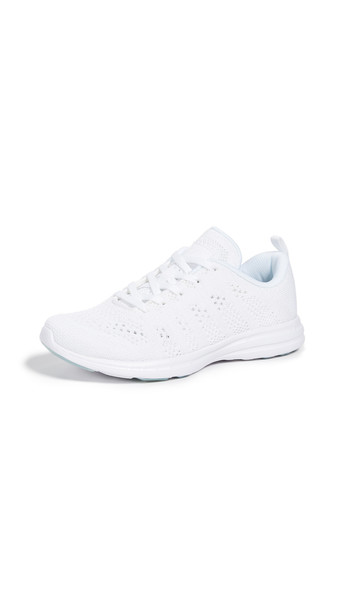 APL: Athletic Propulsion Labs TechLoom Pro Sneakers in metallic / white
