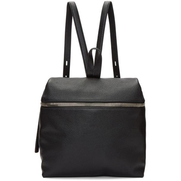 Kara Black Leather Large Backpack