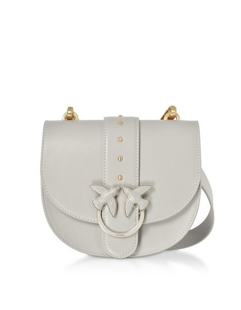 Pinko Round Love Crossbody Bag in beige