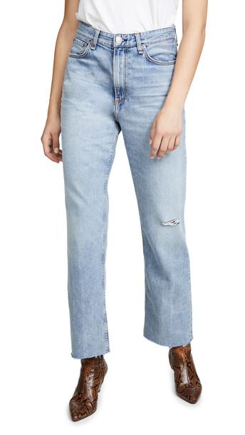 Rag & Bone/JEAN Ruth Super High Rise Straight Jeans